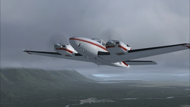FSX+IF Screenshot: Cloudbase