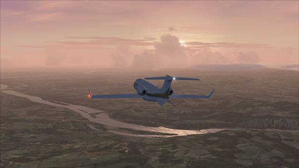 FSX+IF Screenshot: Global Weather Simulation