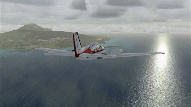 FSX+IF Screenshot: Global Weather Simulation, Indonesia
