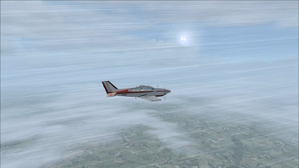 FSX+IF Screenshot: Wet Morning